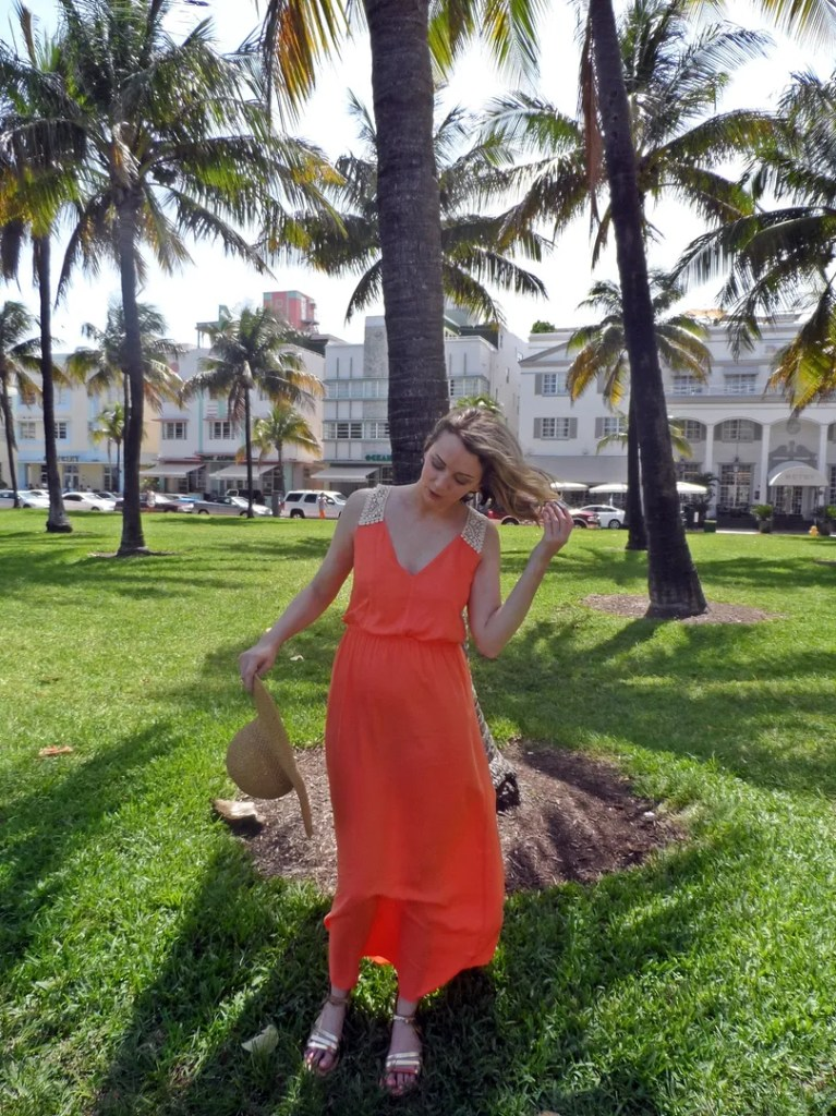 Tangerine Topshop Maxi Dress - The P-Ho Diaries