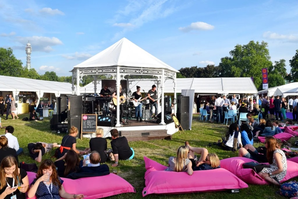 Band stand at taste london