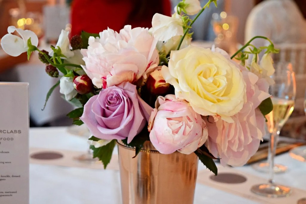 Flowers at Laurent Perrier