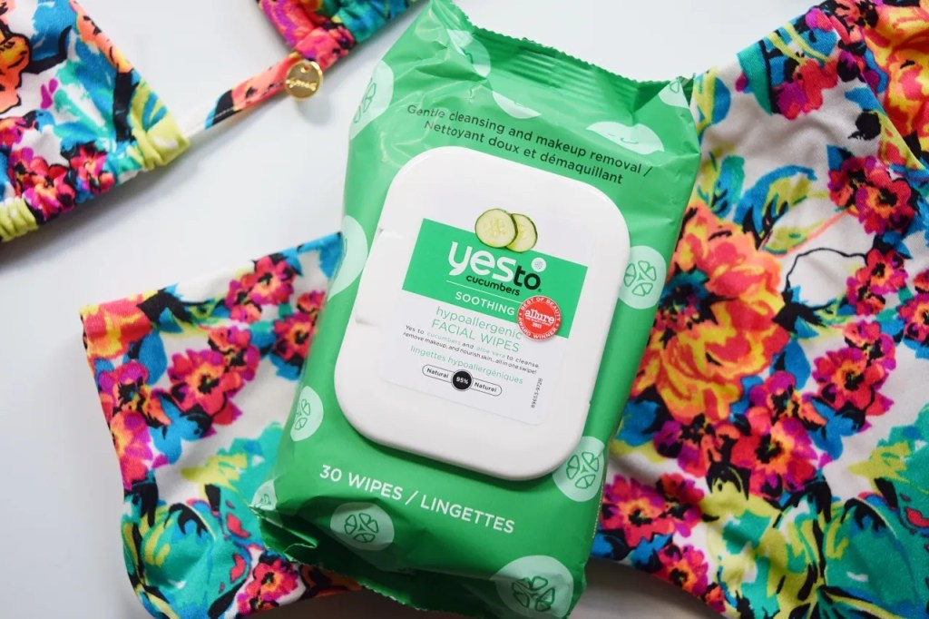 Yes To Cucumber Face Wipes | What's In My Spa Bag