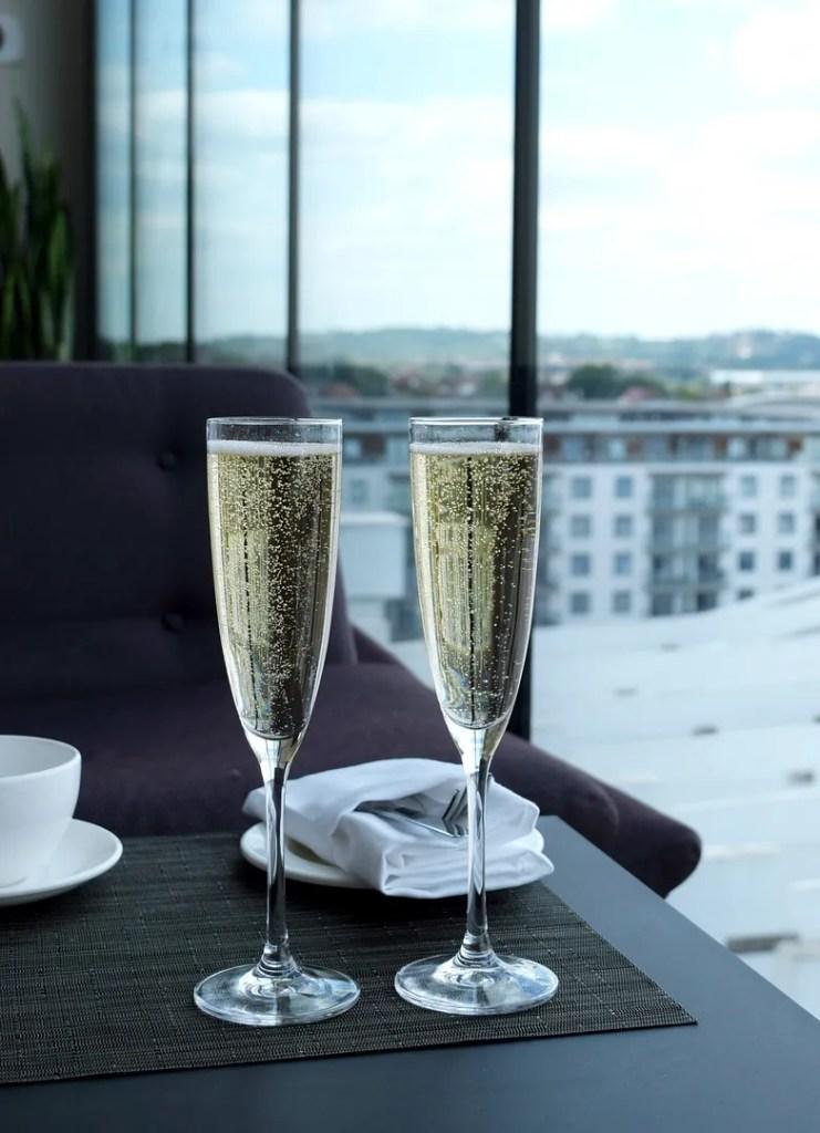 Champagne at Skybar 9 Hilton London Wembley