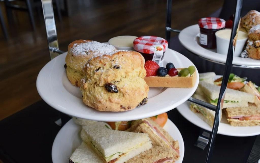 Scones at afternoon tea