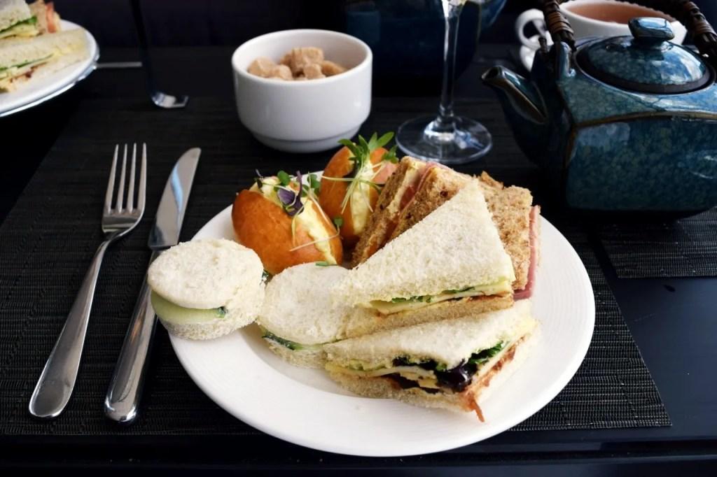 Sandwiches afternoon tea hilton london wembley