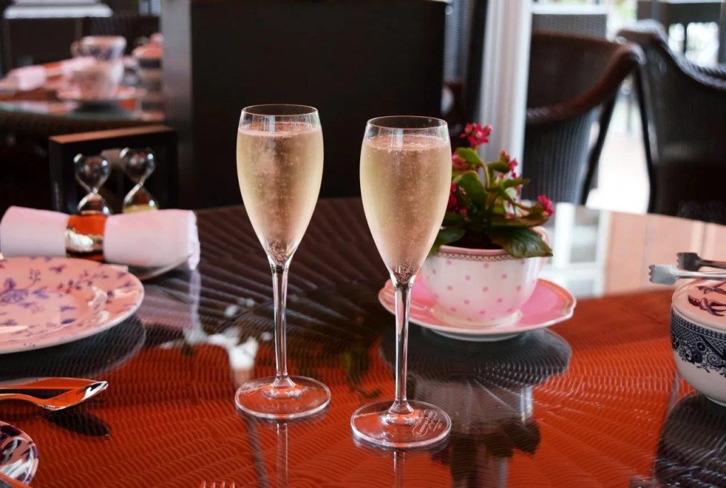 Champagne at Afternoon tea St Ermins Hotel London