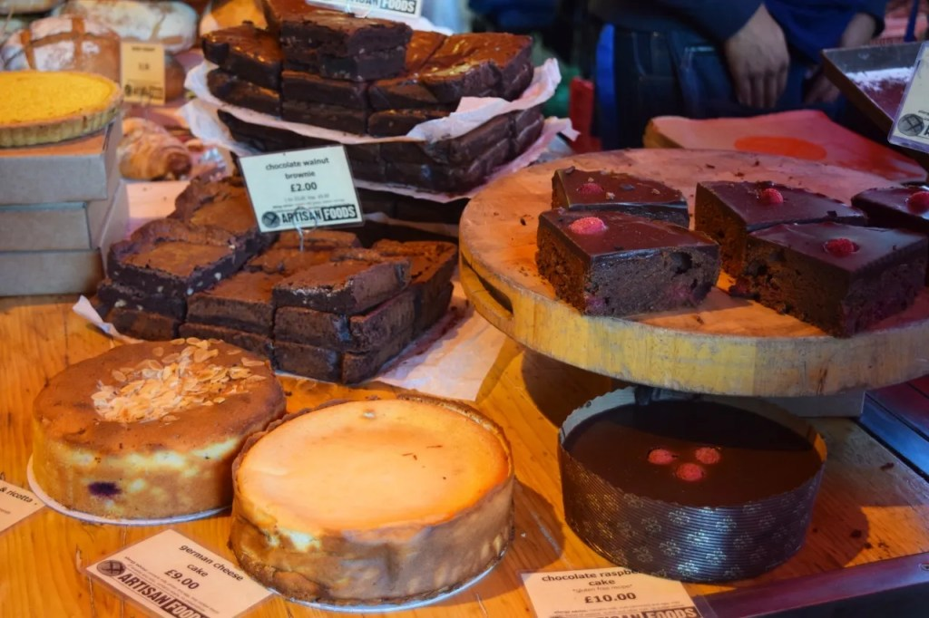 Chocolate Brownies & Cakes Borough Market London | The LDN Diaries