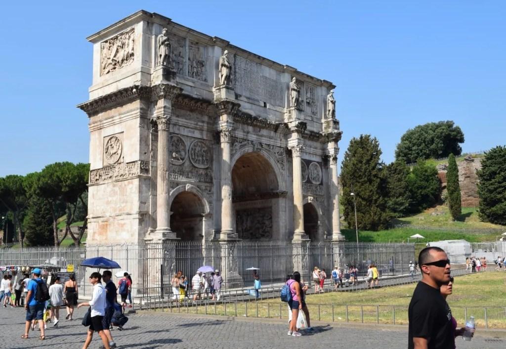 Outside Colosseum Rome