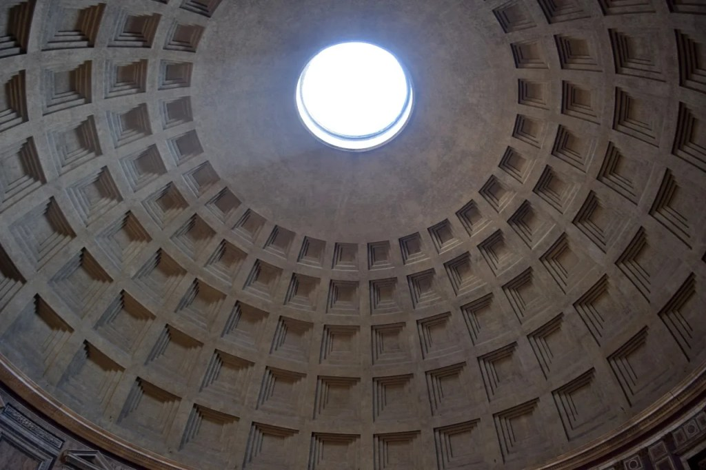 Pantheon Rome Ceiling Concrete