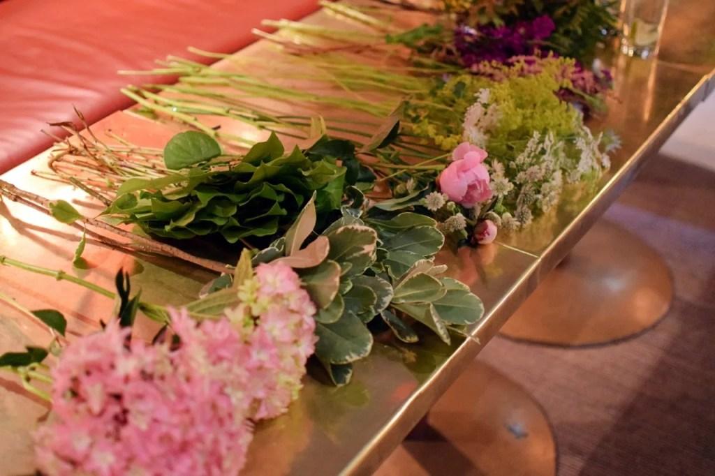 Flower arranging at Villandry