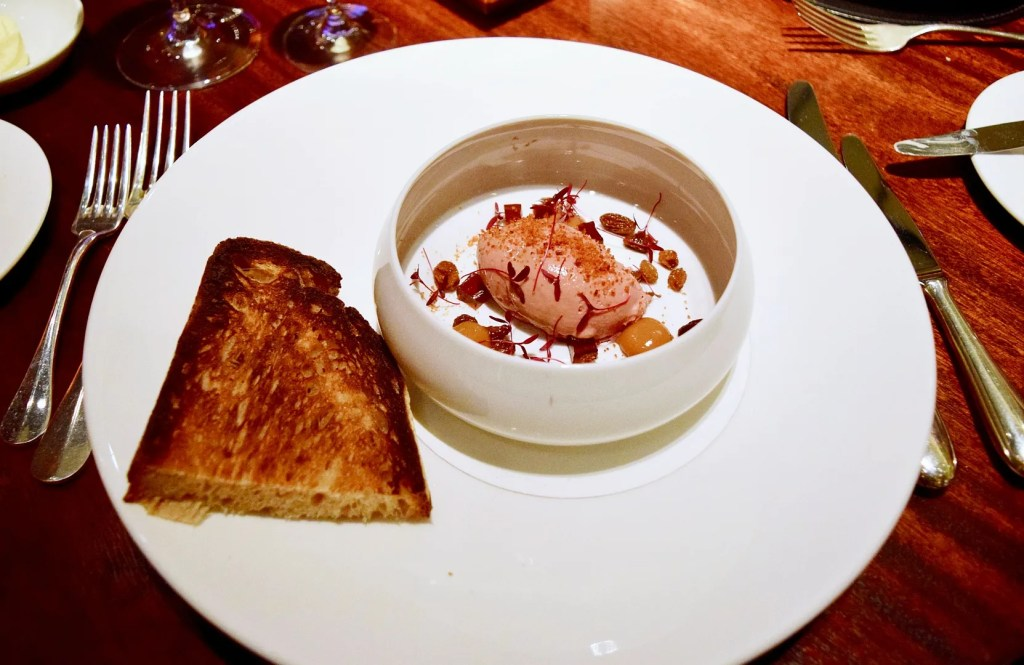chicken liver parfait with quince jelly