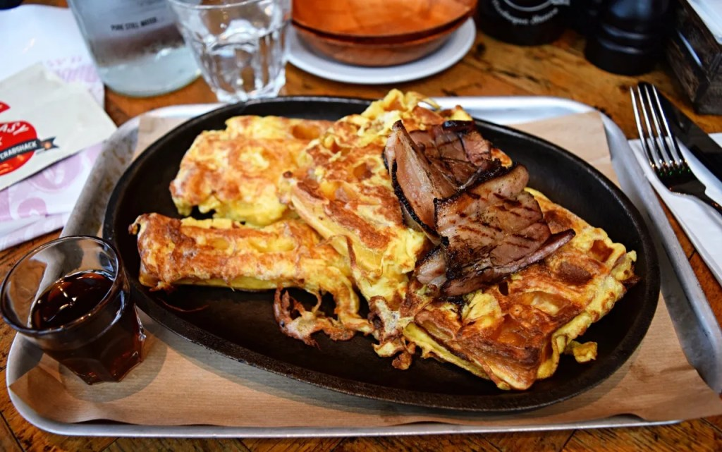 Eggy bread and bacon and maple syrup at Big Easy | London Lifestyle Blog