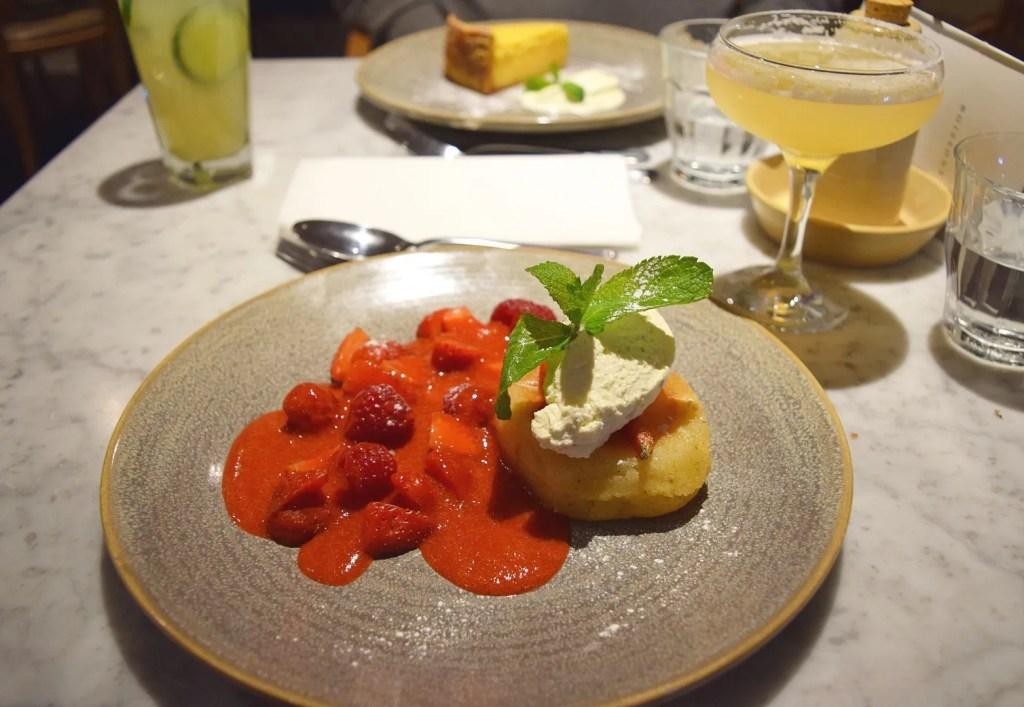 Summer Berry Savarin dessert Brasserie Blanc