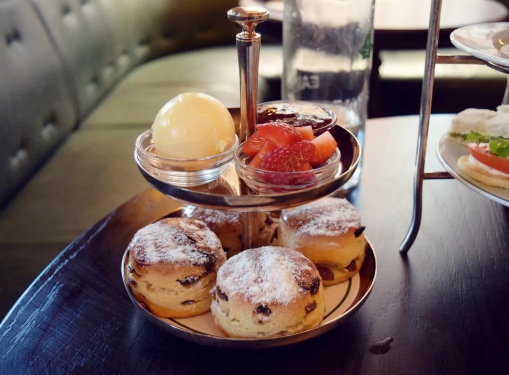 Scones at Afternoon Tea The Ivy Market Grill