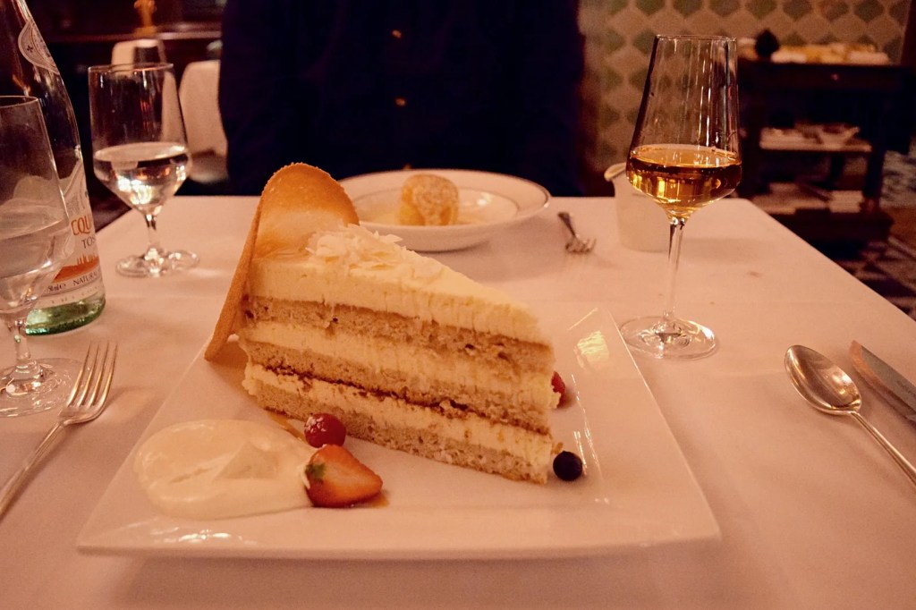 Coconut layer cake Smith & Wollensky london sesserts