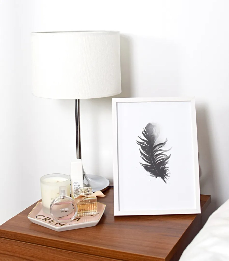 Feather poster print in frame, home tips, UK Lifestyle Blog The LDN Diaries