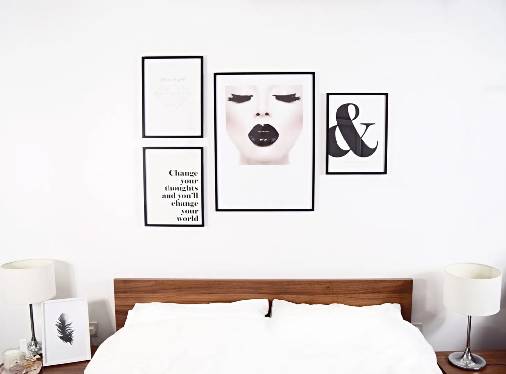 Decorate a bedroom with posters