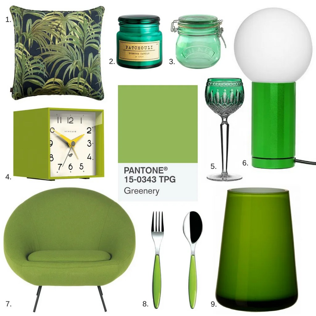 Pantone colour of the year greenery 2017