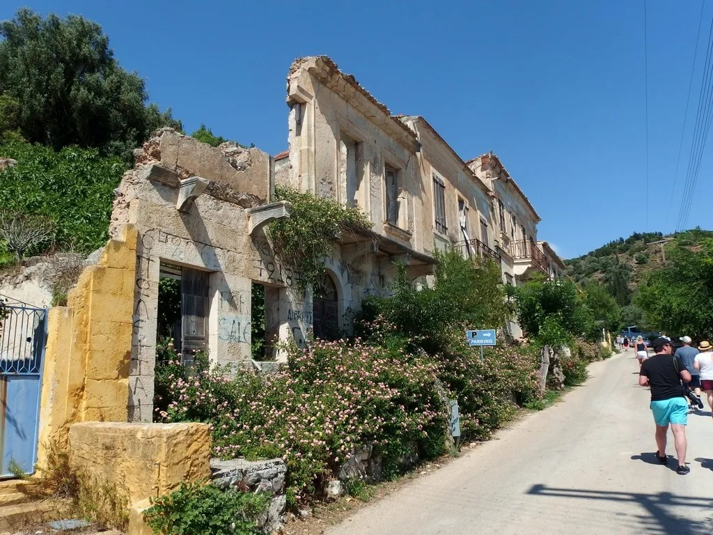 Assos Kefalonia old houses
