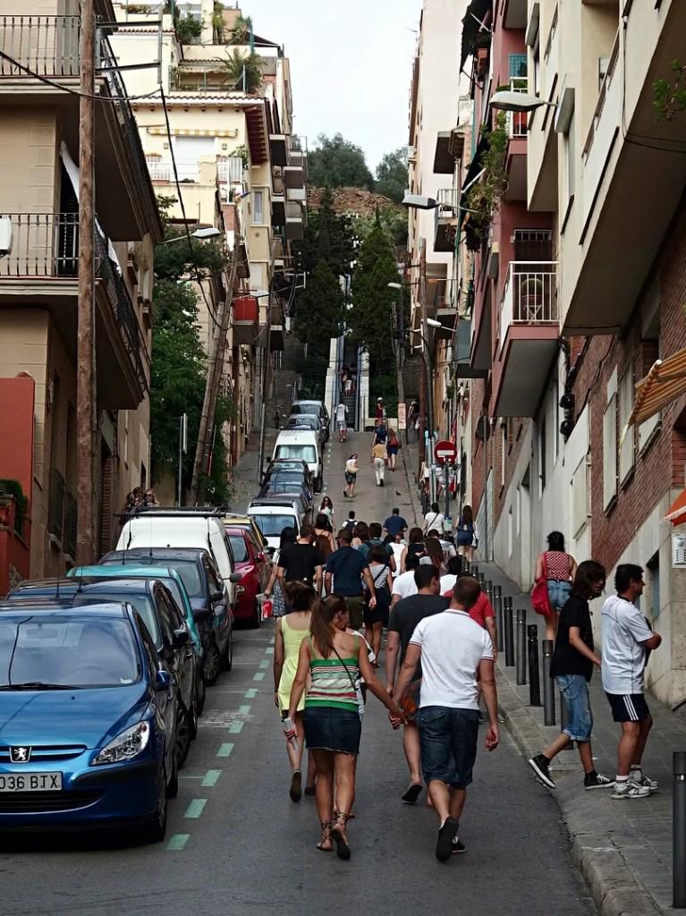 Outdoor Escalator Barcelona