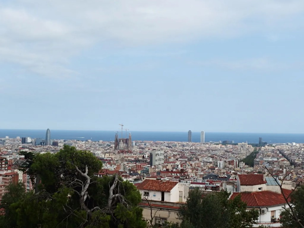 Park Guell View On Barceona