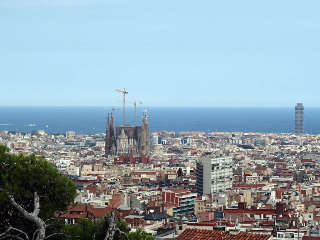 Park Guell Barcelona View