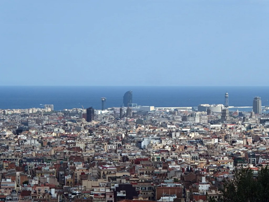 Barcelona View On City