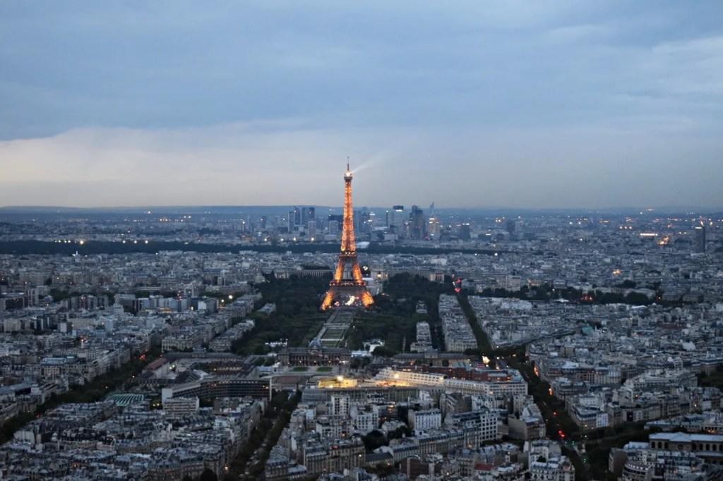 Eiffel Tower from Montparnasse Tower