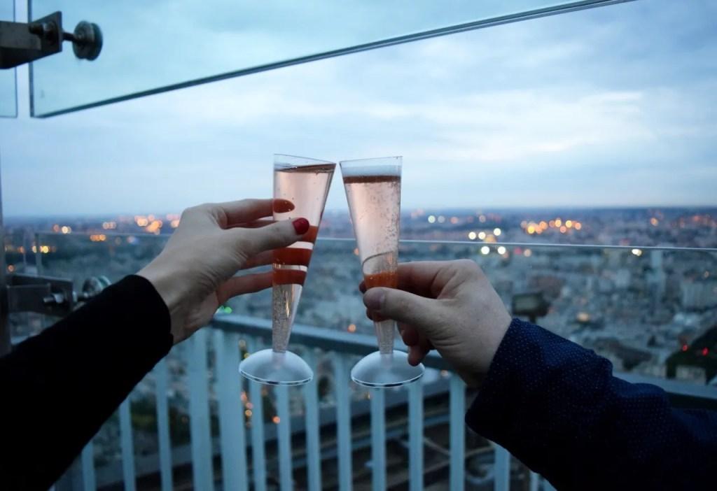 Champagne at Montparnasse Tower