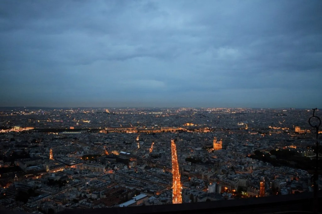 View over Paris from Montparnasse Tower