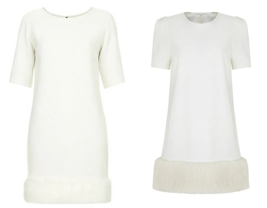 Victoria Beckham fur dress copies