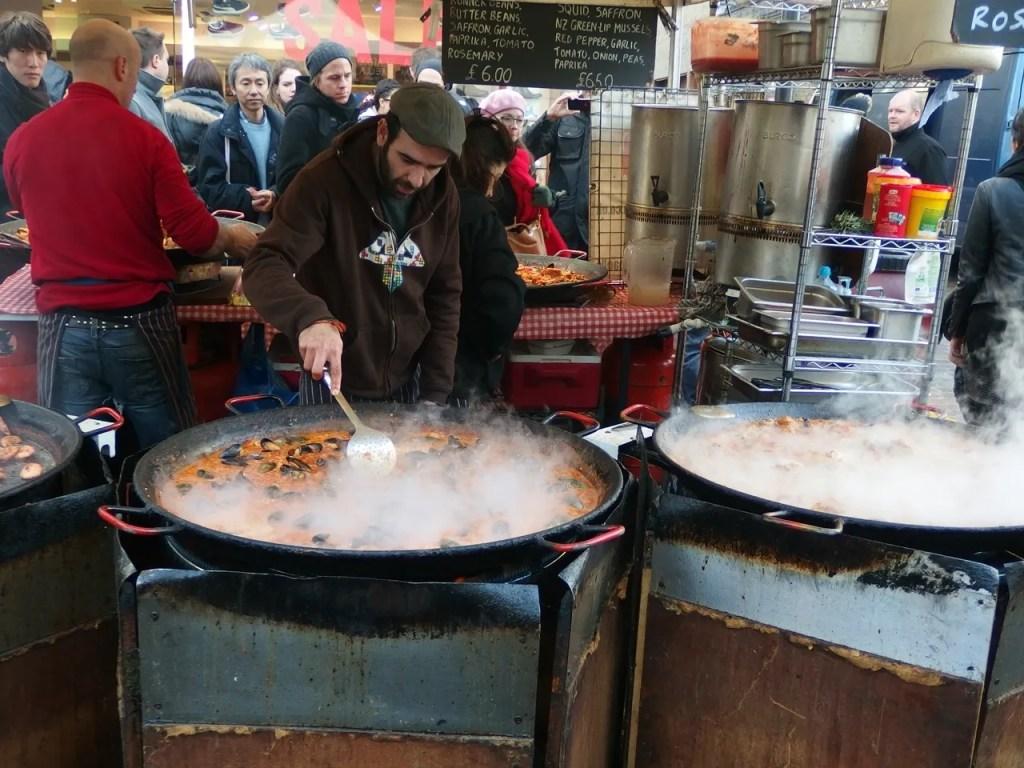 Paella At Portobello Market