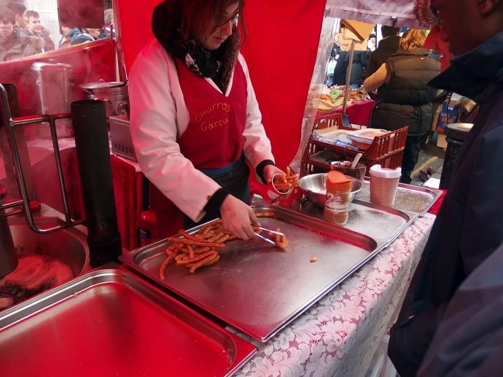 Churros Stall Portobello Market