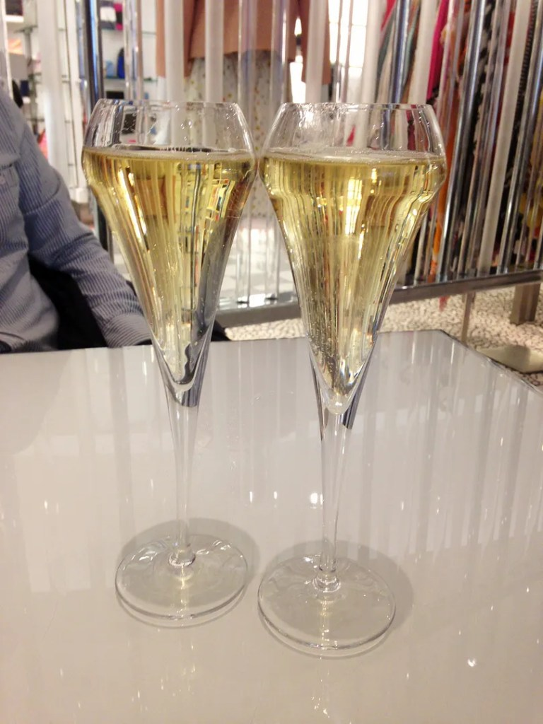 Champagne at Saks Fifth Avenue