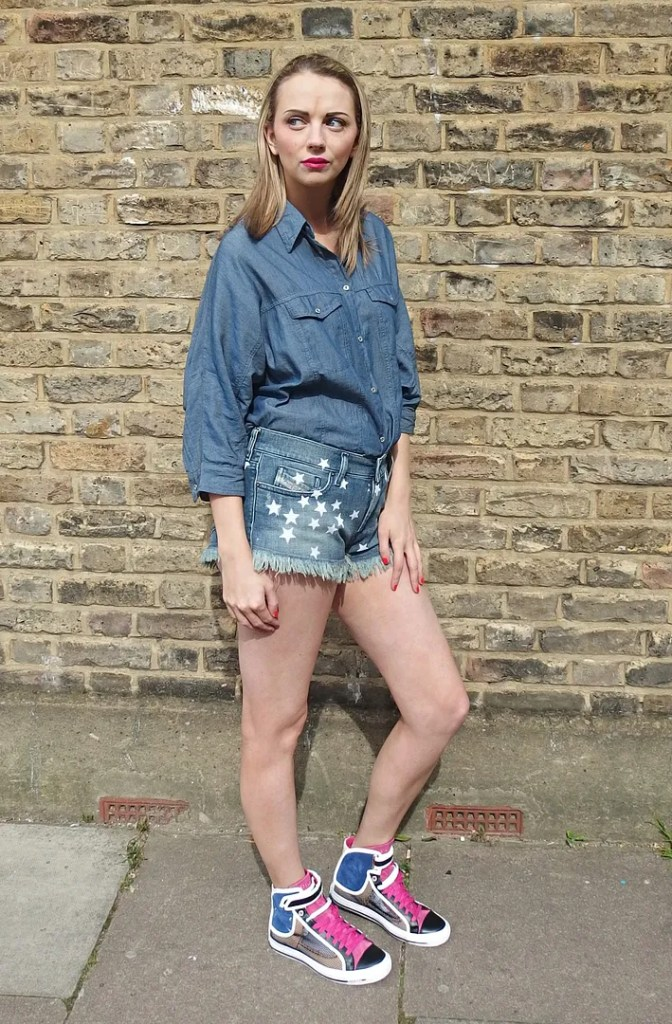 Diesel Summer Denim Collection Star Shorts