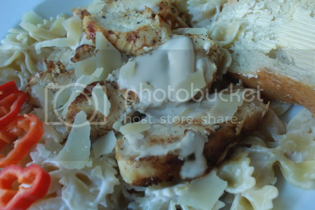 Spicy Grilled Chicken Alfredo