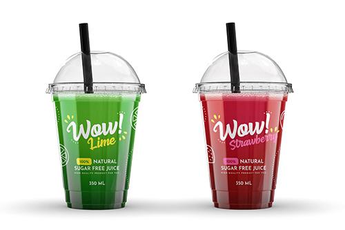 Plastic Juice Cup Mock-Up