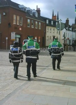 APCOA parking wardens take to the streets of Lichfield. Pic: Nick Brickett