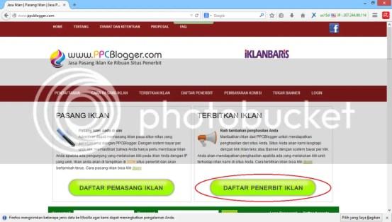 Cara  daftar penerbit ppcblogger