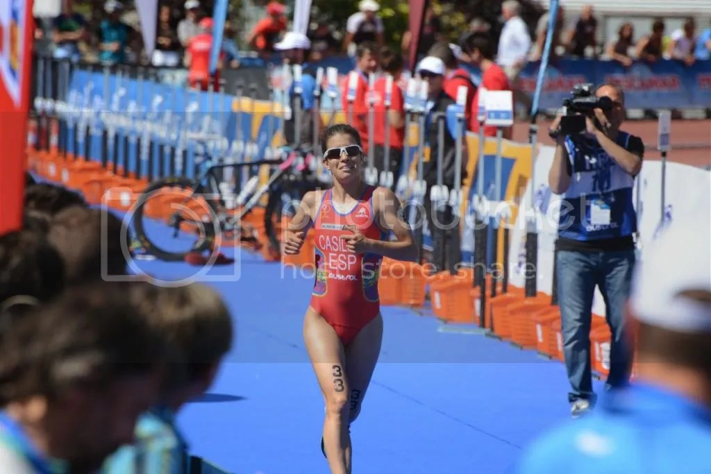 Miriam Casillas en competición   Triatlón Ferrol