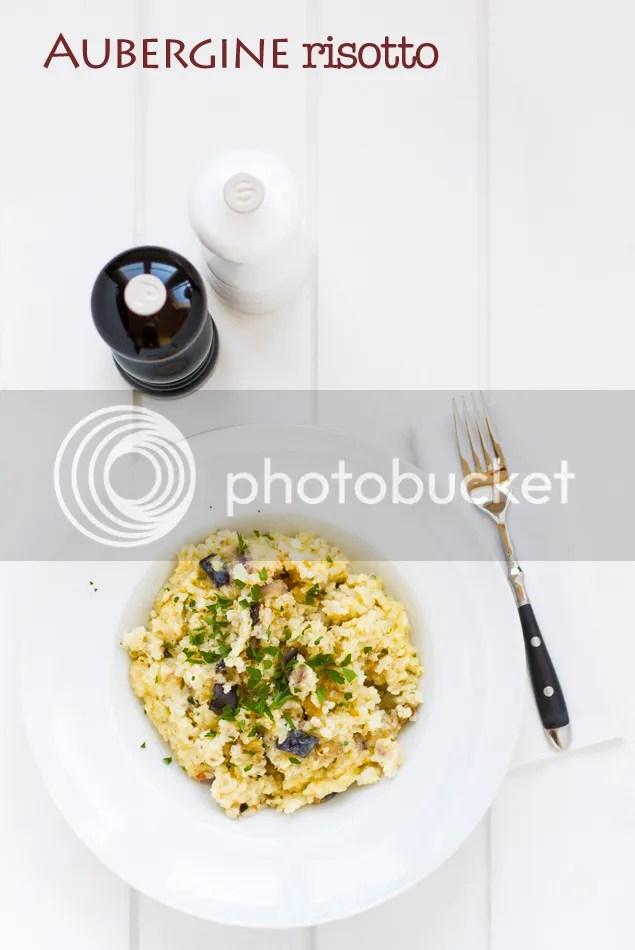 aubergine (eggplant) risotto