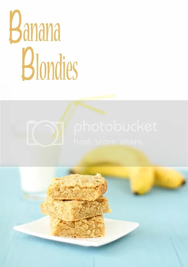 banana blondies - vegan