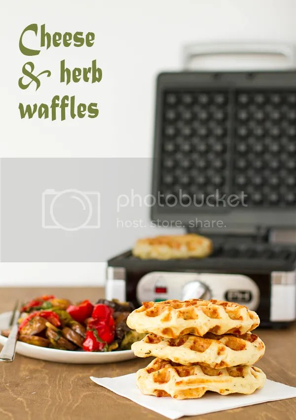 cheese and herb waffles
