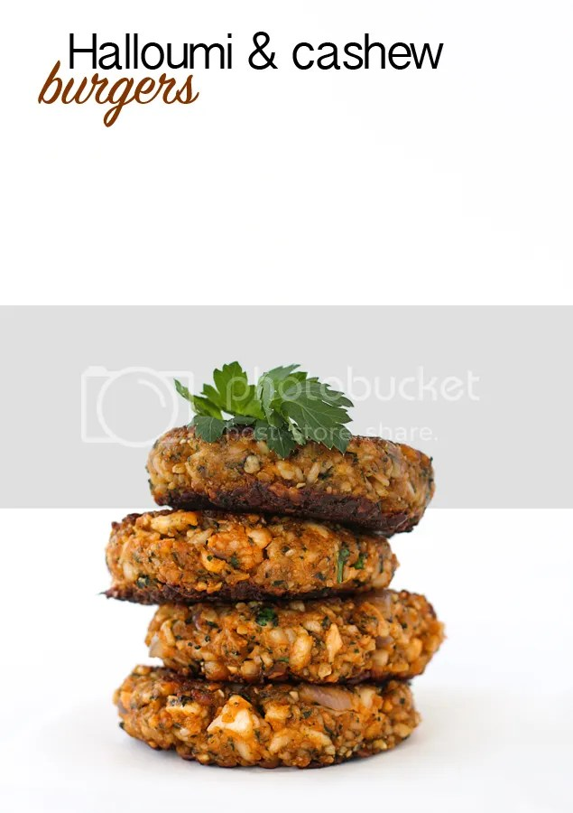 Halloumi & cashew burgers
