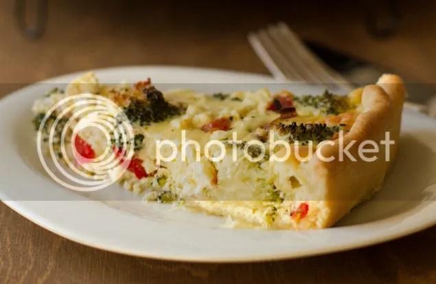 Broccoli & feta quiche