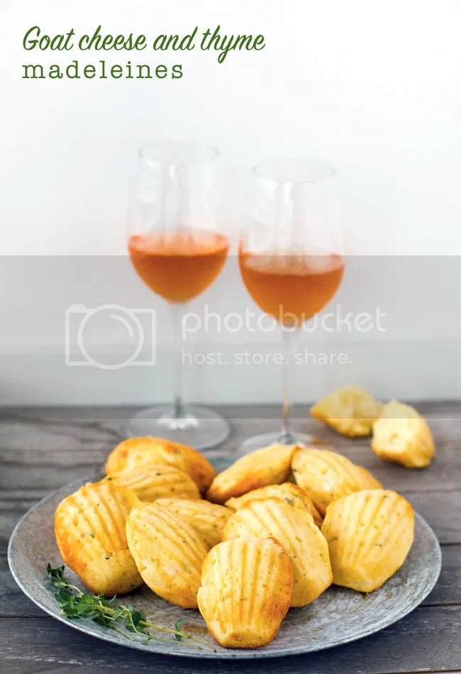 Savoury goat cheese and thyme madeleines
