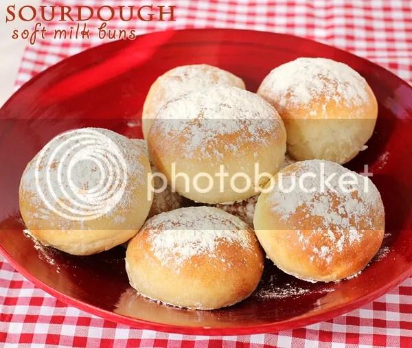 sourdough soft milk buns