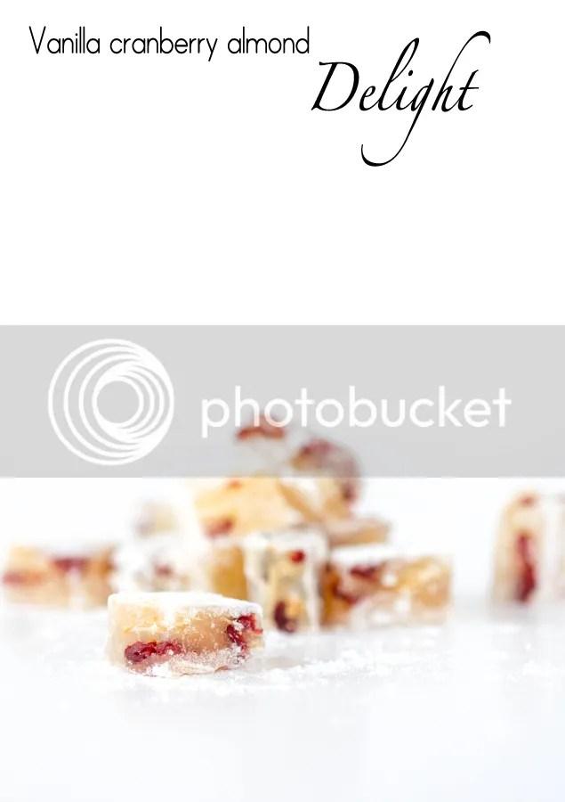 Vanilla cranberry almond delight