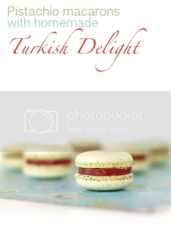 Turkish Delight macarons