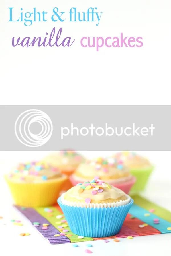 Light & fluffy vanilla cupcakes