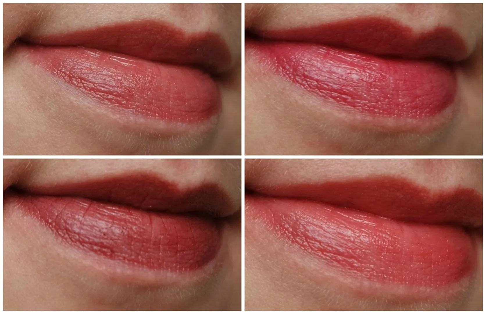 burts bees lip shimmer rhubarb