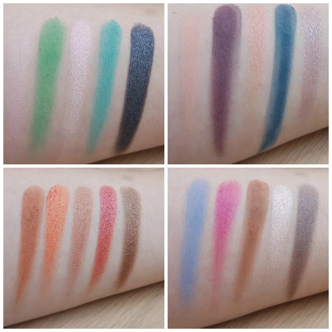 Urban Decay Alice in Wonderland Through the Looking Glass LE eyeshadow palette swatch